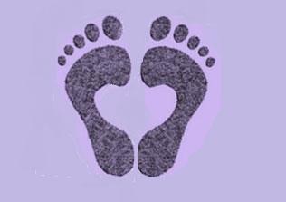 Feet-in-heart-shape